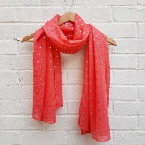 Annies Closet by Gold Coral Scarf S Closet