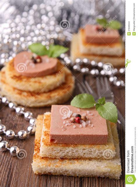 canapé foie gras canapes stock images image 21840544