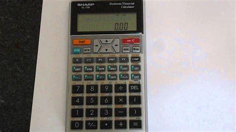 reset  sharp el  financial calculator youtube