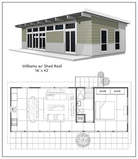 Shed Floor Plan by Williams Shed Roof With The Bedroom In A Loft Above The