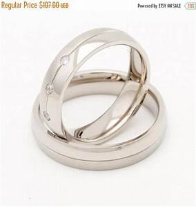 On sale titanium wedding ring sets his and hers with for Wedding rings sets on sale
