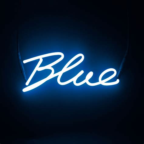 decorative neon signs seletti shades blue neon l panik design