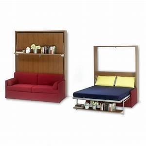 Lit escamotable avec canape 160x200 ledi 5l ch achat for Canape lit couchage 160x200