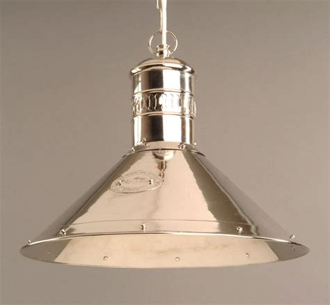 polished nickel solid brass deck l pendant light n449