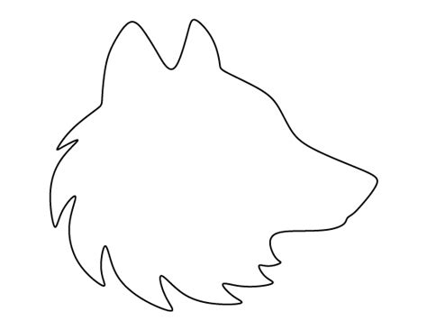 cut out templates wolf wolf head stencil