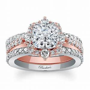 barkev39s two tone bridal set 8006s2tp barkev39s With two toned wedding ring sets