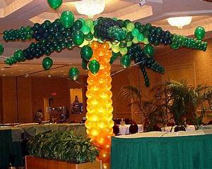 Balloon palm tree with LED lighting lighted balloon
