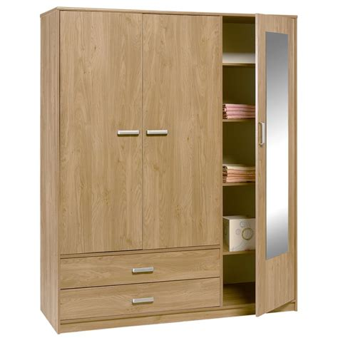 3 Door Wardrobe by Homelane 3 Door Wardrobe With Mirror