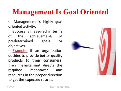 management industrial oriented goal
