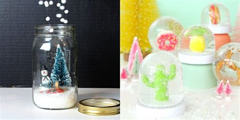 diy snow globes    homemade snow globes