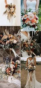 20 rust burnt orange fall wedding bouquets roses rings