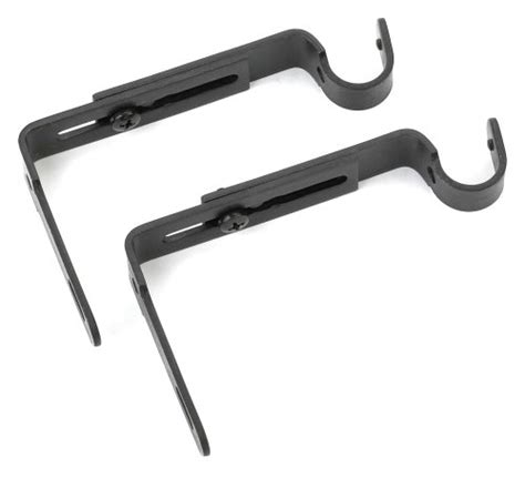 umbra drapery rod bracket umbra adjustable bracket for drapery rod set of 2 black