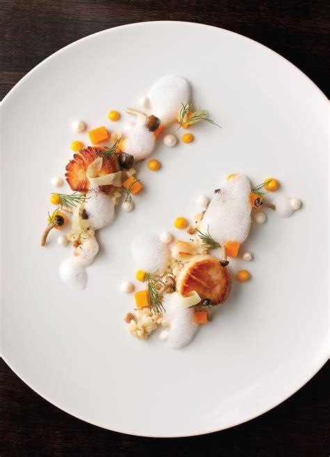 assiette cuisine scallops at acadia scallops gastronomie gastronomy