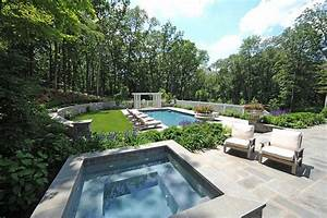 landscaped backyard with pool - Hooked on Houses
