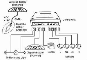 Rear Parking Sensor System With Buz01  U0026quot Hi