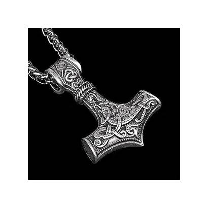 Hammer Necklace Pendant Thor Classy Thors Mens