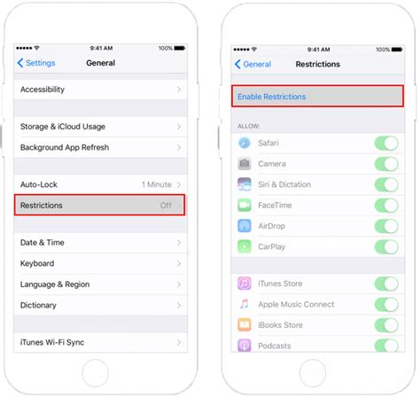 how to enable a disabled iphone how to enable disable restrictions on iphone