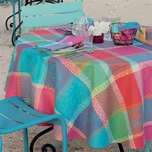 Tissu Enduit Pour Nappe : tissu enduit nappe carreaux multicolore ~ Teatrodelosmanantiales.com Idées de Décoration
