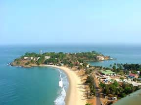 Aerial View of The Cape Sierra Lagoon, a photo from Western, North ... Sierra Leone