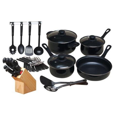 shop gibson home  piece nonstick cookware set black overstock