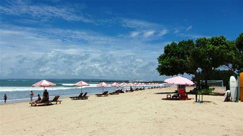 kuta beach bali pantai indah tempat wisata foto gambar
