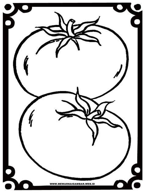 gambar tomat untuk mewarnai halaman mewarnai anak