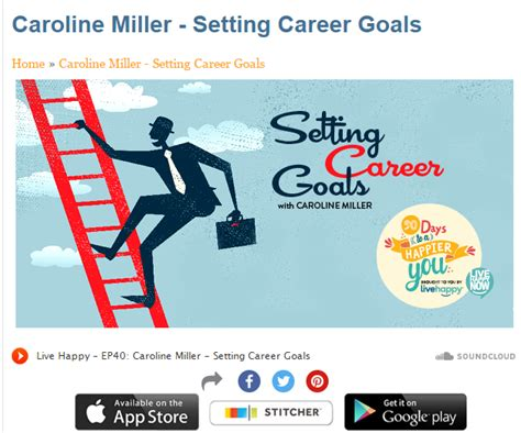 Exles Of Career Goals by Setting Career Goals With Caroline Miller