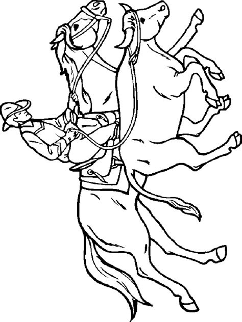 cowboy coloring pages  printable cowboy coloring pages