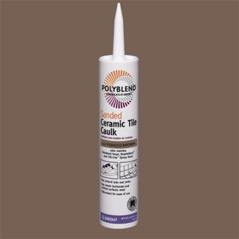 Polyblend Sanded Ceramic Tile Caulk Time by Custom Building Products Polyblend 52 Tobacco Brown 10 Lb