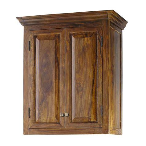 meuble haut cuisine bois meuble haut de cuisine en bois de sheesham massif l 60 cm