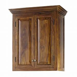 Meuble De Cuisine En Bois : meuble haut de cuisine en bois de sheesham massif l 60 cm ~ Dailycaller-alerts.com Idées de Décoration