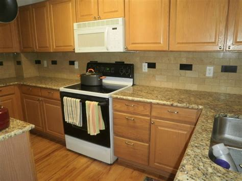 light oak cabinets with backsplashes installations