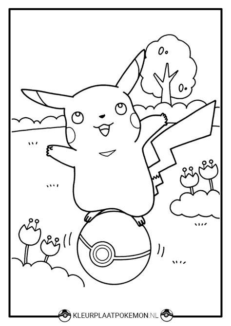 Kleurplaat Pikachu by Pikachu Kleurplaat Downloaden Kleurplaat Pok 233 Mon
