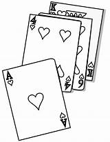 Coloring Cards Pages Playing Card Poker Uno Template Cartas Para Imagenes Colorear sketch template