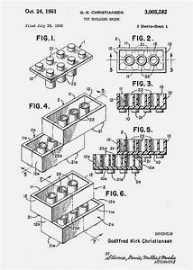 The Original Lego Brick Patent  Filed 1958  By Ole Kirk