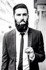 Black Suit Men with Beards