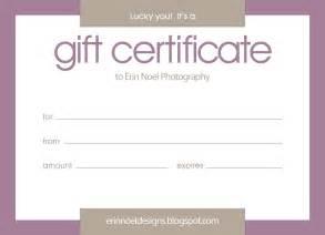 Erin Noel Designs: Gift Certificates!