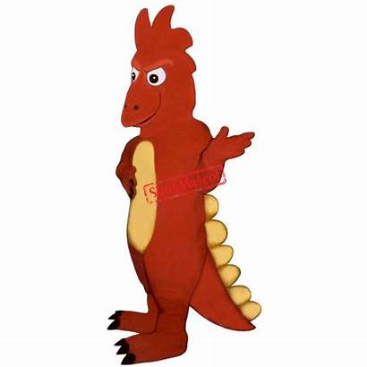 Mascot Costume Dragon Firedrake Dinosauro Cartoon Costumes