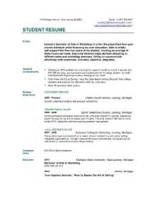 resume exles for objectives for students student resume templates student resume template easyjob
