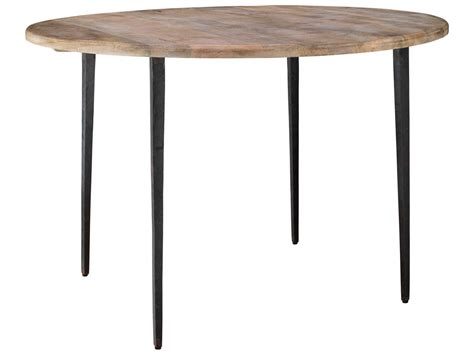 farmhouse style round dining table jamie young company farmhouse natural wood iron 45