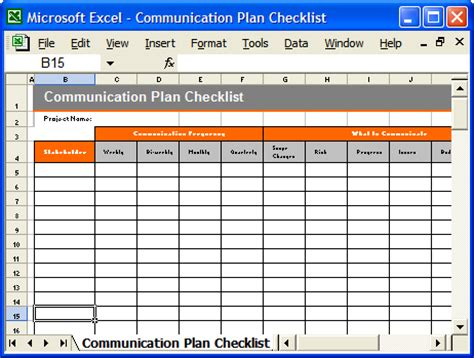 communication plan template communication plan templates ms word and excel spreadsheets