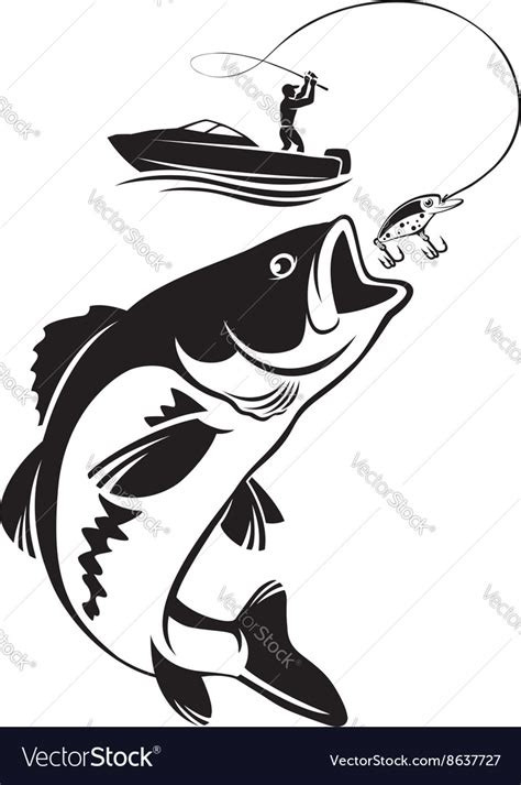 bass fish royalty  vector image vectorstock