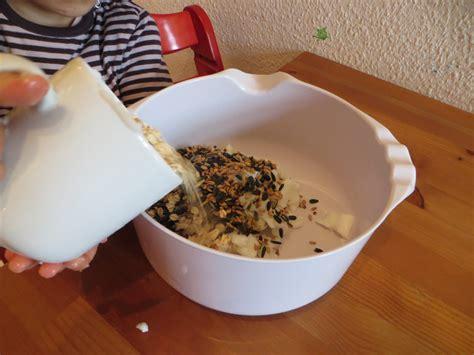 tannenzapfen mit vogelfutter mausezahn