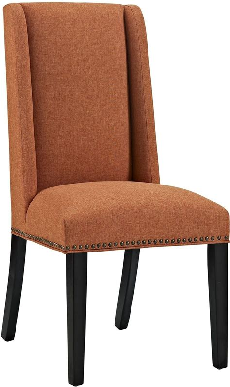 baron orange upholstered dining chair eei 2233 ora