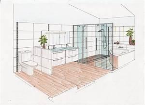 07 conseils en amenagement sejour salle de bain With croquis d une maison 12 dessin de jardin en perspective le jardin de bastian