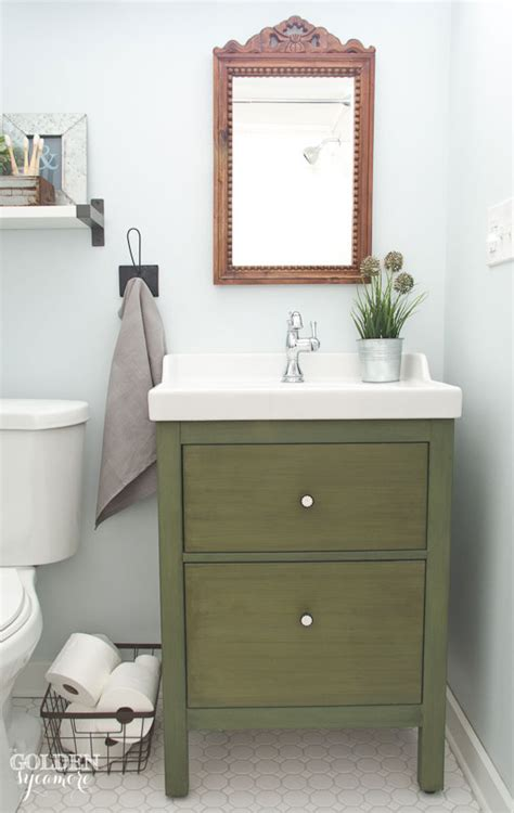 Vanity Guest List guest bathroom reveal the golden sycamore