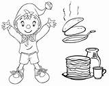 Coloring Pancake Pancakes Crepes Pages18 Coloriages Theme Coloringkids sketch template