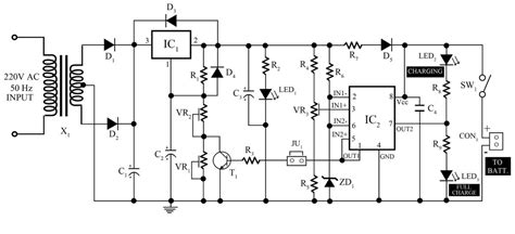 Smart Battery Charger With Pcb Diagram