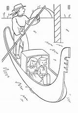 Coloring Pages Gondola Venice Sheets Around Italy Switzerland River Colouring Coloriage Children Icolor Printable France Preschool Crafts Sur Getcolorings Qisforquilter sketch template