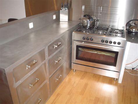 meuble de cuisine en inox meuble cuisine industriel inox cuisine nous a fait